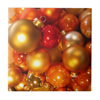 Colorful Christmas tree decorations Ceramic Tile