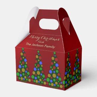 Colorful Christmas Tree Favor Box