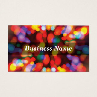 Colorful Christmas Tree Lights Business Card
