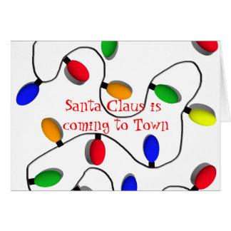 Colorful Christmas Tree Lights Card