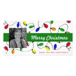 Colorful Christmas Tree Lights Photo Cards
