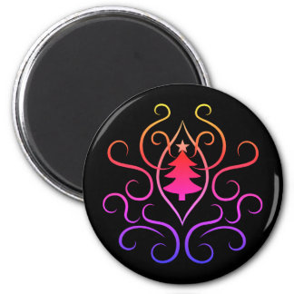 Colorful Christmas tree Magnet