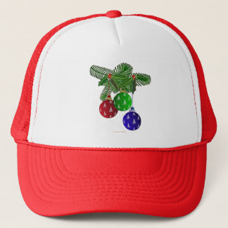 Colorful Christmas Tree Ornaments Trucker Hat