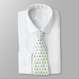 Colorful Christmas Tree Pattern - Tie