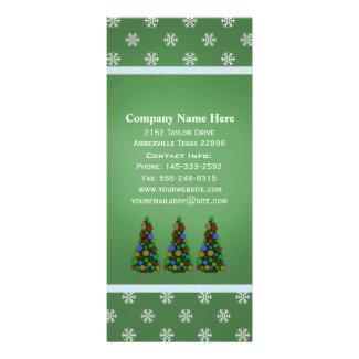 Colorful Christmas Tree Rack Cards