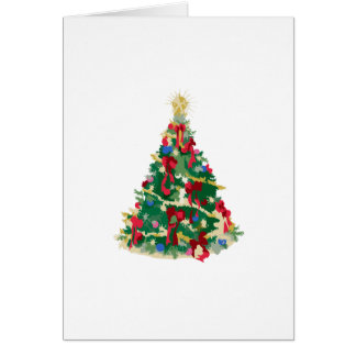 Colorful Christmas Tree Vector Art Cards