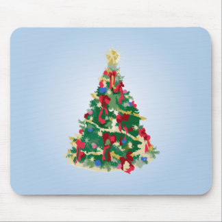 Colorful Christmas Tree: Vector Art: Mouse Pad