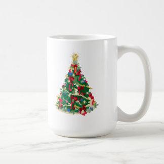 Colorful Christmas Tree Vector Art Mugs