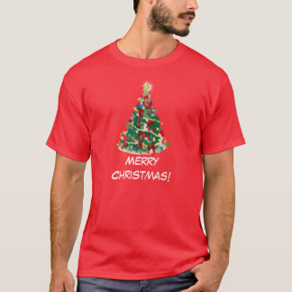 Colorful Christmas Tree: Vector Art: T-Shirt