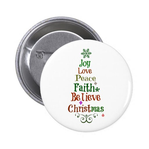 Colorful Christmas Tree Words Pins