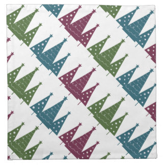 Colorful Christmas Trees Pattern Cloth Napkin
