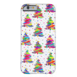 Colorful Christmas Trees Snowflakes iPhone 6 Case