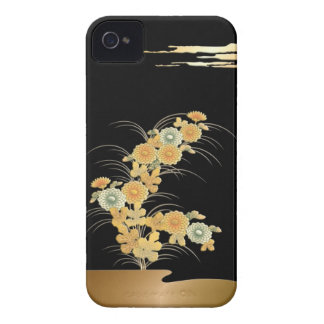 Colorful chrysanthemum at night iPhone 4 cases
