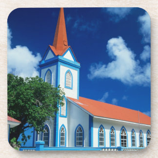 Colorful church on the island of Tahaa in the Coaster