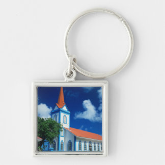 Colorful church on the island of Tahaa in the Key Chain