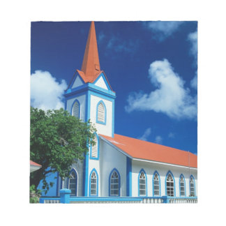 Colorful church on the island of Tahaa in the Memo Notepad