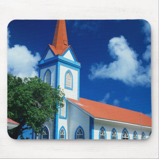 Colorful church on the island of Tahaa in the Mouse Pad