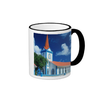 Colorful church on the island of Tahaa in the Ringer Mug