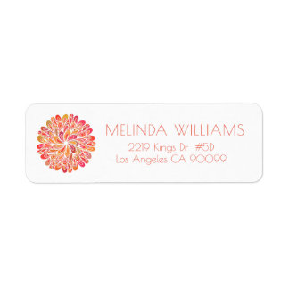 Colorful Circle Abstract Geometric Mandala Label