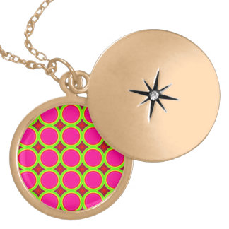 Colorful circle abstract pattern pendant