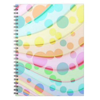 Colorful Circle Abstract Spiral Note Books