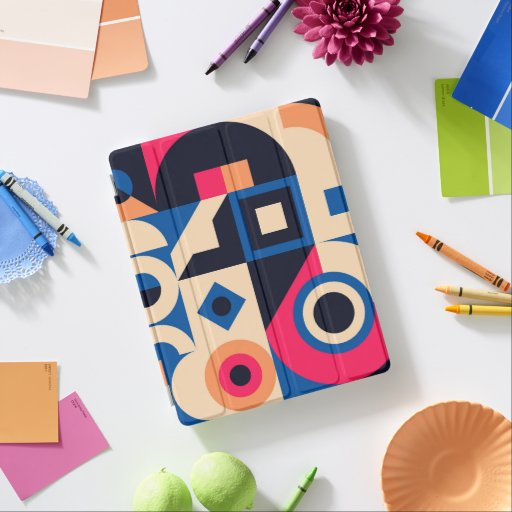 colorful circle geometric pattern iPad smart cover