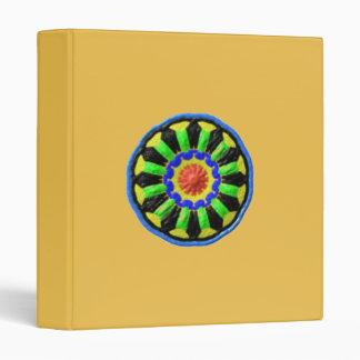 Colorful circle kaleidoscope pattern 3 ring binders