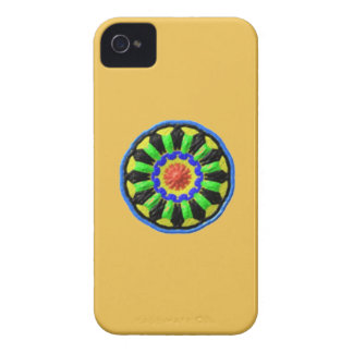 Colorful circle kaleidoscope pattern iPhone 4 cover