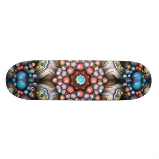 Colorful Circle of 3D Shapes Skateboard Deck