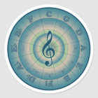 colorful circle of fifths wheel stickers. Black Bedroom Furniture Sets. Home Design Ideas