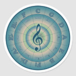 Colorful Circle of Fifths Classic Round Sticker