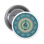 Colorful Circle of Fifths Pinback Buttons
