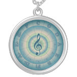 Colorful Circle of Fifths Round Pendant Necklace