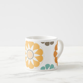 Colorful Circle Paper Flower Patterns Espresso Cup
