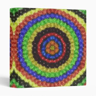 Colorful circle pattern 3 ring binders