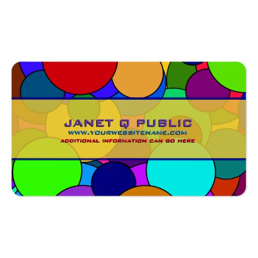 Colorful Circle Pattern Business Card
