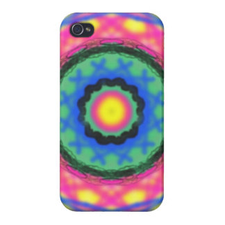 Colorful circle pattern cover for iPhone 4