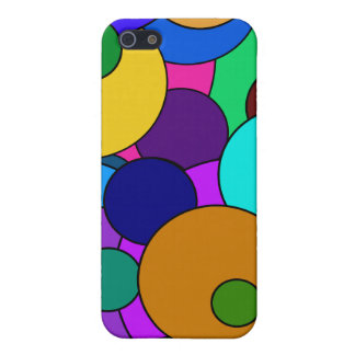 Colorful Circle Pattern Cover For iPhone SE/5/5s