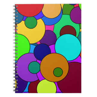 Colorful Circle Pattern Notebook