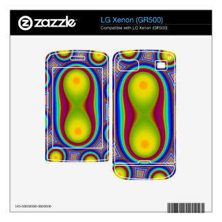 Colorful circle pattern skins for the LG xenon