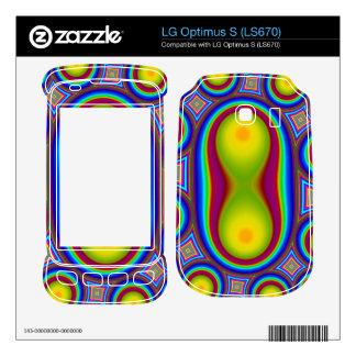 Colorful circle pattern LG optimus s skins