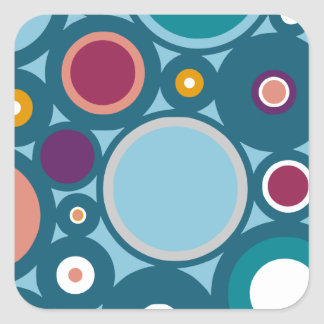 Colorful Circle Pattern Square Sticker