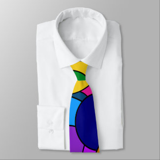 Colorful Circle Pattern Tie