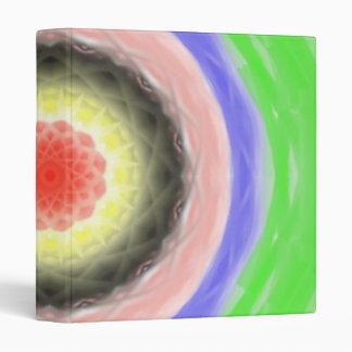 Colorful circle pattern vinyl binder