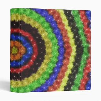 Colorful circle pattern vinyl binders