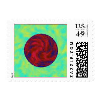 colorful circle postage