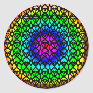 Colorful Circle Rainbow Abstract pattern Classic Round Sticker