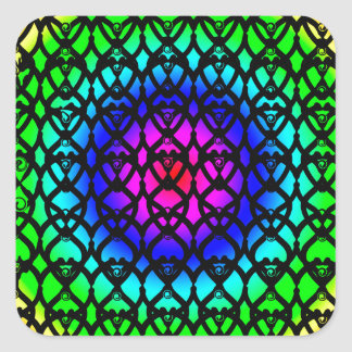 Colorful Circle Rainbow Abstract pattern Square Sticker