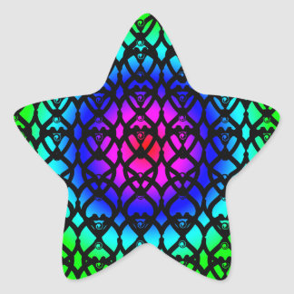 Colorful Circle Rainbow Abstract pattern Star Sticker