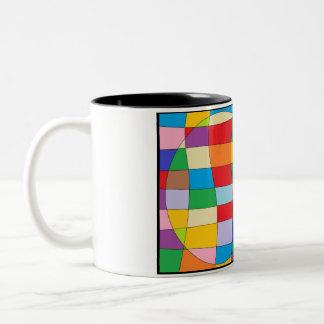 Colorful Circle Two-Tone Coffee Mug